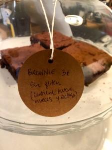 El Quinto sin gluten brownie