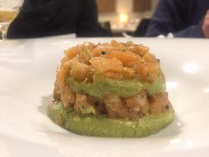 Tartar de salmon sin gluten